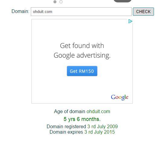 Umur OhDuit.com 5 tahun 6 bulan