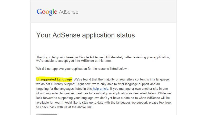 Google Adsense Bahasa Melayu