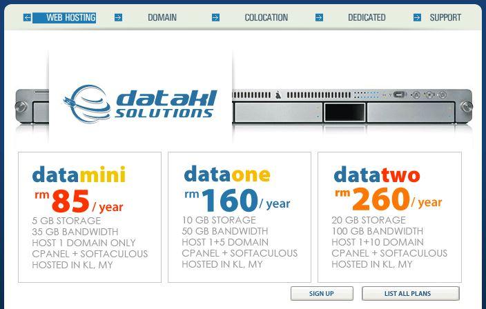 Best Malaysia Web Hosting - DataKL