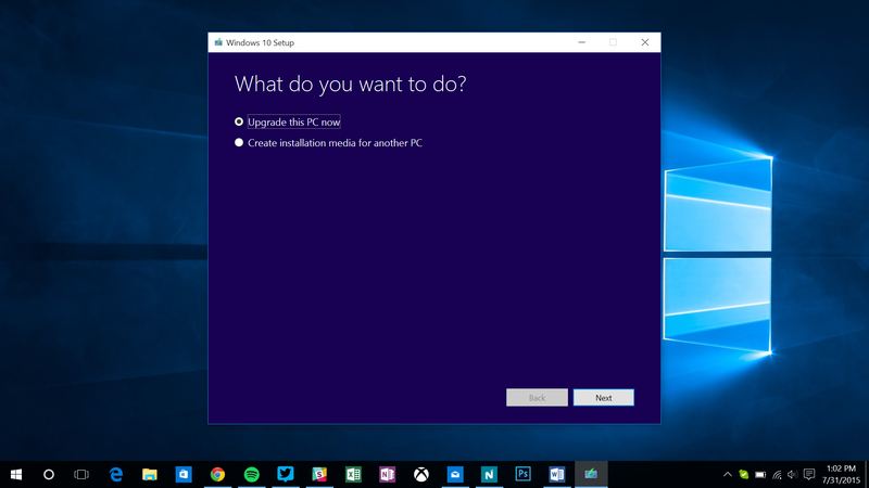 Upgrade ke Windows 10