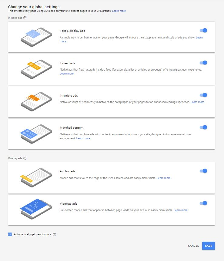 Adsense Ads Global Setting