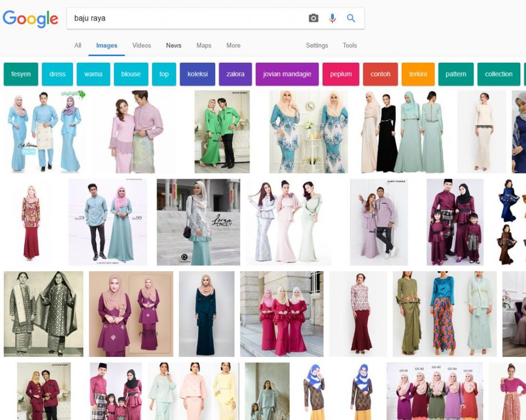 google baju raya