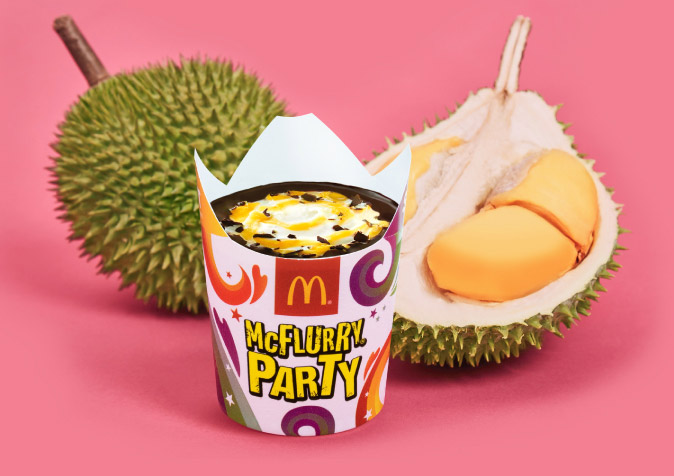 Ais Krim Durian McD